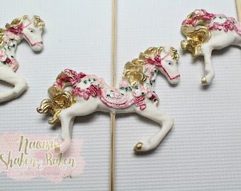 Carousel Horse Edible Cake Topper