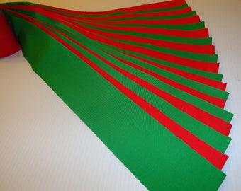 "Jelly roll, 20--2 1/2 x 44"" strips, pre cut cotton, kelly green, christmas red, die cut quilting sewing FREE US SHIPPING"