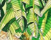 Original Watercolour Painting - Banana Leaves