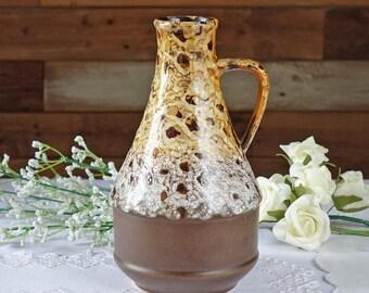 Vintage pottery pitcher - German pottery - German jug