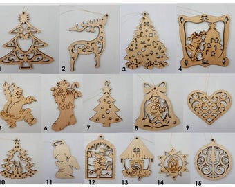 Wooden Christmas decorations / Wooden Christmas decor / Wooden Christmas Ornaments / wood Christmas tree toys / Christmas gift from Ukraine.