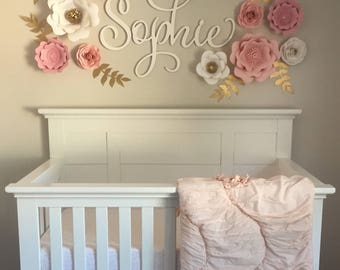 3d wall flower etsy for 3d baby room design