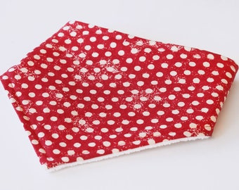 Red bib | Bandana bib | Baby bandana bib | Baby bibs | Dribble bib | Drool bib | Handmade bib