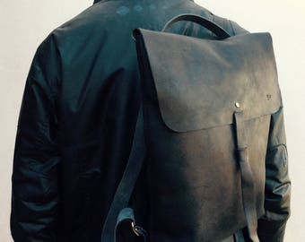 LEATHER BACKPACK /  leather Backpack men / leather rucksack / Leather backpack for woman / womens backpack/ Black backpack