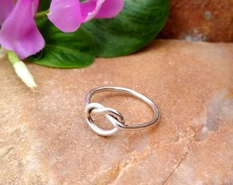 On Sale Sterling Silver Knot Ring - Sterling Silver Ring - Handmade Ring - Beautiful Silver Ring