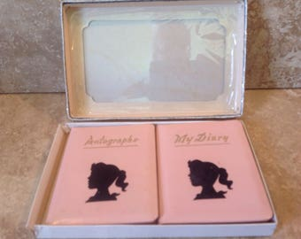 Autograph book and diary set