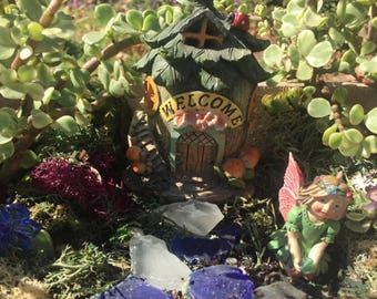 DIY Enchanted Fairy Garden Kit With Light Up Welcome House