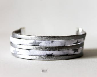 Bracelet Liberty ° multi-row ° ° ° suede Silver (Star)