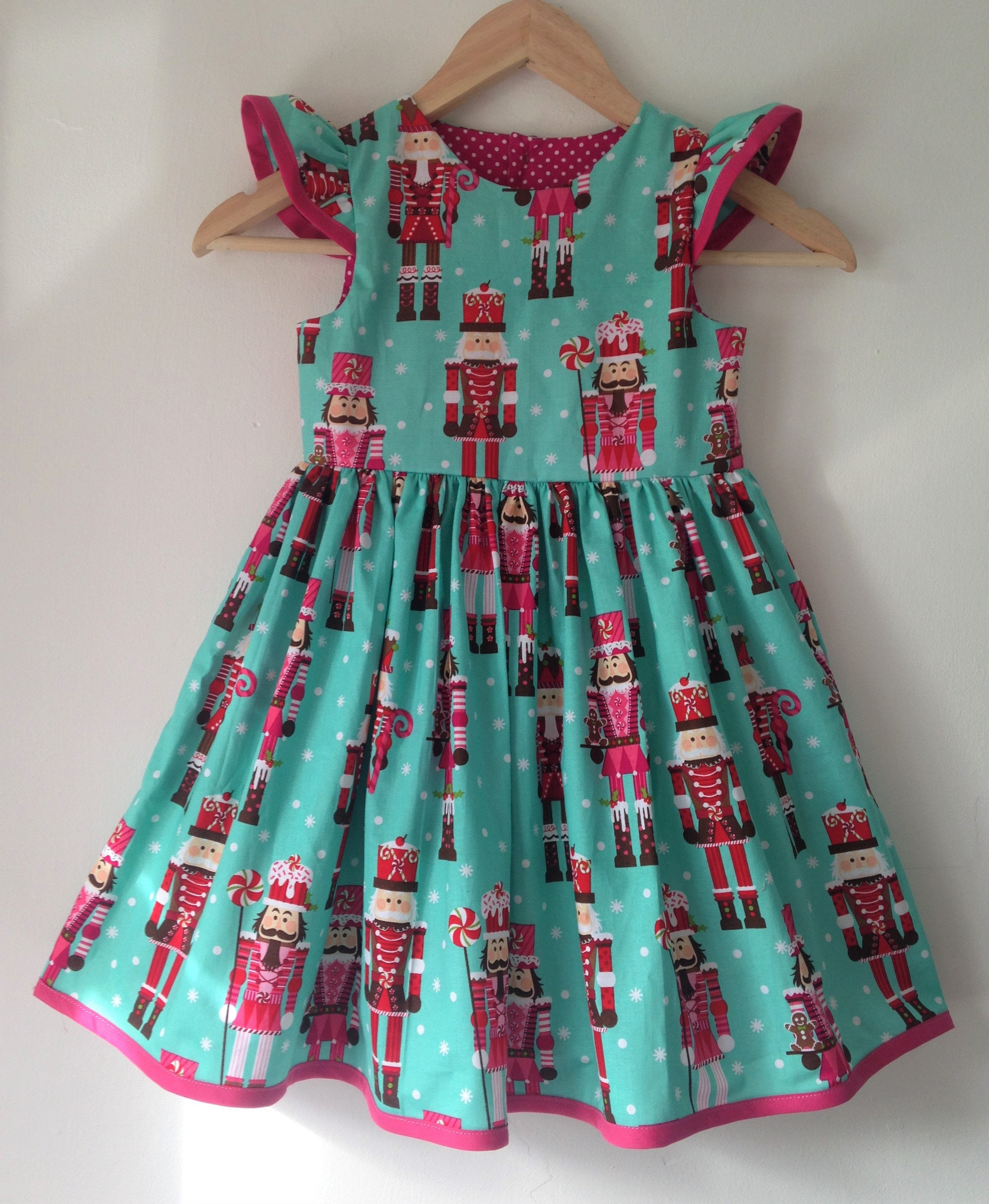 Nutcracker, girls christmas dress, baby girls, flutter sleeves, xmas ...