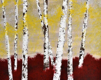 "Branches Original Abstract Acrylic Painting.30"" x 24"""