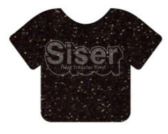 """1 12x20"""" Black Siser Glitter HTV, Siser Glitter Heat Transfer Vinyl, Black Glitter HTV"""