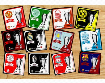 Champions League All The Finals Per Year Wooden Waterproof Drink Coasters 9 X 9 cm Great Gift For Fans