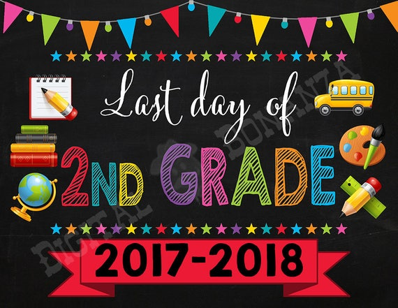 It is a picture of Fabulous Last Day of 2nd Grade Printable