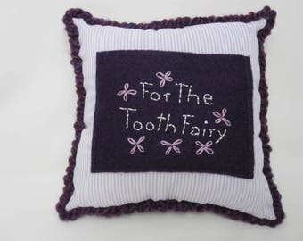 TOOTH FAIRY PILLOW Girls Purple Lavender Stripe