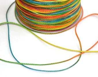 10 m cord polyester yarn multicolored 0.5 mm