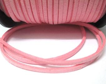 1 m look pink suede 3 mm suede cord