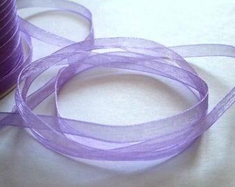15 m 6mm purple organza Ribbon
