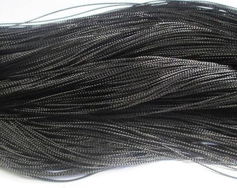 20 m braided black wire 0.8 mm