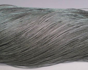 10 m braided silver wire 0.8 mm