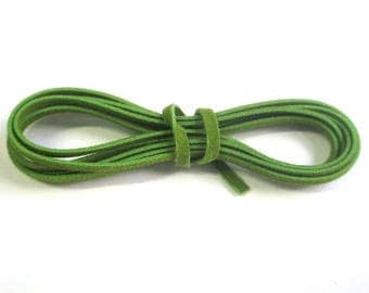 3 x 1 m wool green color suede cord
