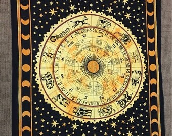 Celestial Astrological Boho Tapestry