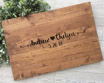 Rustic Wedding Guest Book Alternative, Heart Guest Book Alternative, Wood Wedding Sign, Rustic Guest Book Alternative