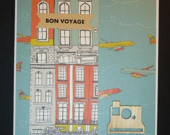 Bright Bon Voyage Card 1562