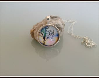 Dead tree cabochon necklace