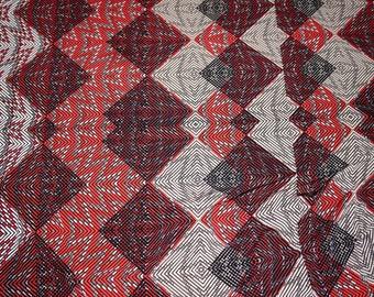 ITY Knit Fabric Abstract Chevron Blocks  Apparel Fabric Stretch Knit