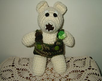 Hand Crocheted Teddy Bear