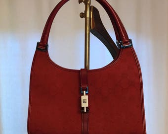 Gucci Bardot Gucci vintage monogramed Bardot bag monogrammed bag