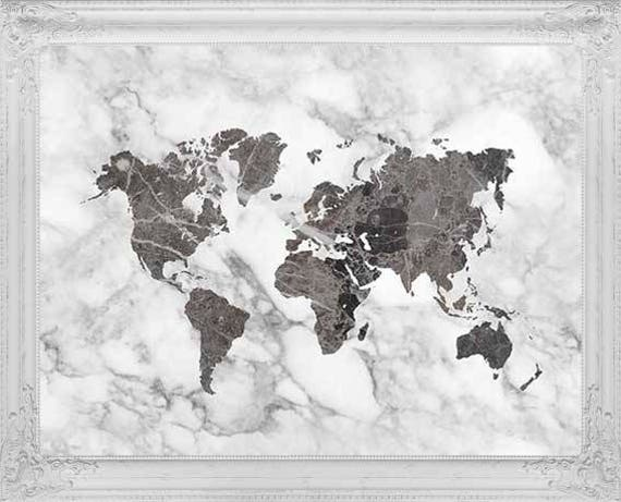 Black world map poster marble decor world map art travel like this item gumiabroncs Choice Image