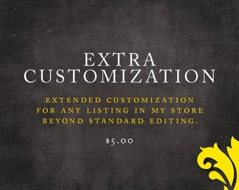 ADD ON . extra customization