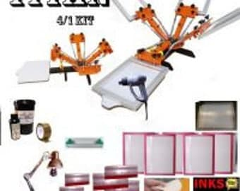 Titan 4 Colour Mega tabletop Screen Printing Kit