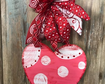 Valentine Door Hanger, Valentine Wreath, Valentine Hearts, Front Door Wreath,  Front Door