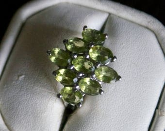 ON SALE Stunning Peridot Silver Ring