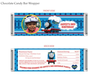 Thomas The Train Chocolate Candy Bar Wrapper