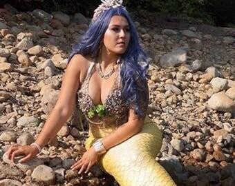 Water Friendly Natural Shell Mermaid Bra, Mermaid Shell Bra, Seashell Bra, Real Mermaid Bra, Professional Mermaid bra