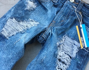 4T Toddler Boy Custom Distressed Jeans