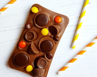 Chocolate - chocolate bar - Slab - toffee - peanut butter - food gift - gift for her - caramel - milk chocolate - slab bar - chocolate slab