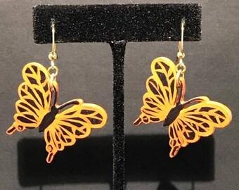 Handpainted Butterfly Earrings