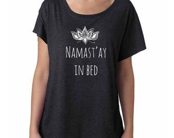 Namaste in bed etsy for Selling shirts on etsy