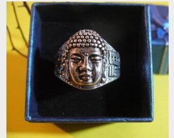 Tibetan silver Buddha 2359 ring