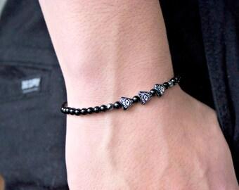 Evil Eye Bracelet /Evil Eye Bracelet/ Men's Evil Eye Onyx Bracelet
