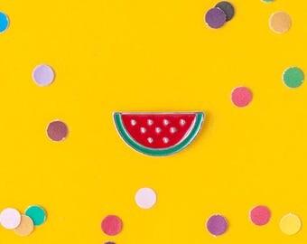 Watermelon slice enamel pin