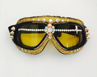 Sun and Moon goggles . Burning man goggles