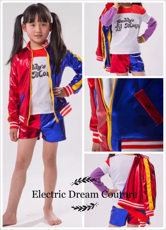 Harley Quinn kids Outfit Harley Quinn girls Costume Harly
