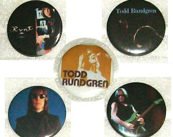 TODD RUNDGREN buttons/pins!! - sets of 5