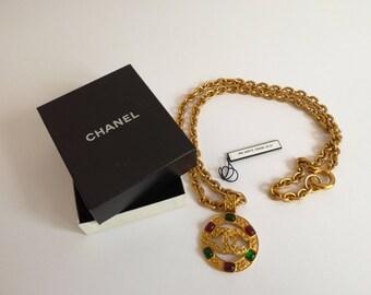 90s Chanel Gripoix Pendant Necklace