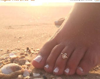 SALE - Adjustable Toe Ring-Gold Toe Ring-Rose Gold Toe Ring-Flower Toe Ring-Tribal Toe Ring-Indian Jewelry-Open Toe Ring-Gold Filled Toe Rin